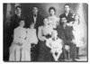 """Chouinard Family""<br /> My wife's paternal great-grandparents Emilie (Pelchat) & Eustache Chouinard (seated, 3rd & 4th from left) and her grandfather, Zenon (back row, right). Date of photo is unknown but Eustache died in 1916."