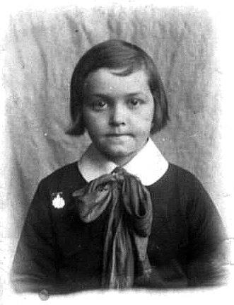 Cecile Frechette, 6 years old, circa 1930.