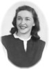 Cecile Frechette, 19-20 years old, circa 1943-1944.