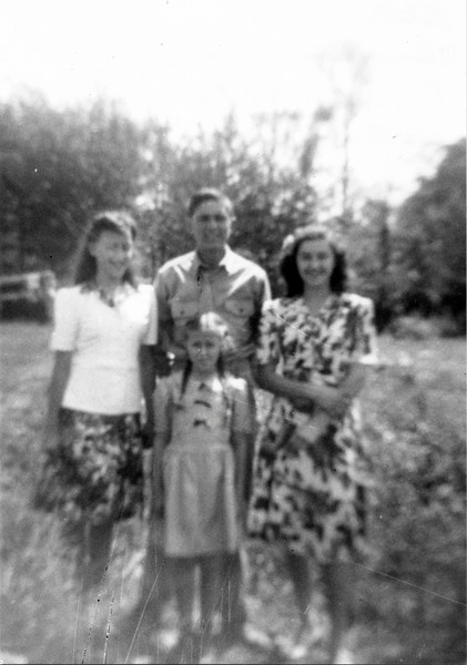 Therese, Roland, Cecile & Estelle Frechette, 1942.
