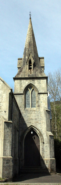 Spire and Tower above the original church entrance. 29 April 2012