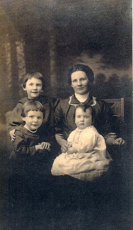 Charlotte Clark Schuyler and children