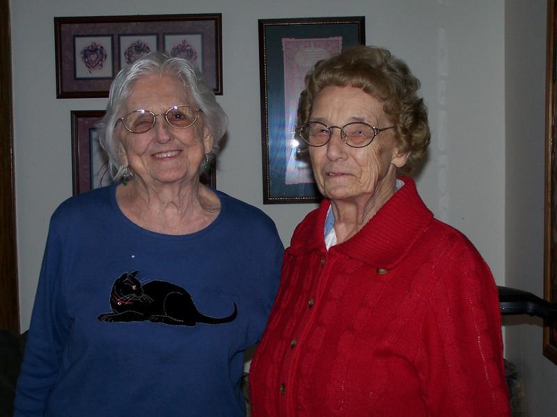 Gertrude (Schuyler) Johnson and Amelia (Clark) Payne