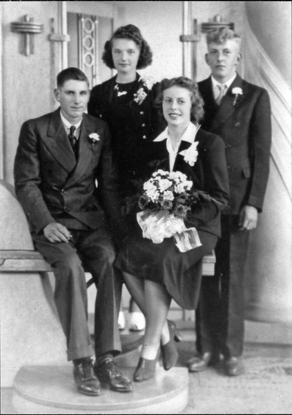 Clifford and Audrey (Sixel) Clark Wedding, 7 June 1941