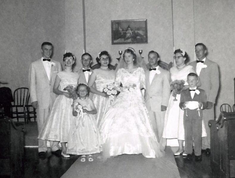 Wedding of Doris Clark and Alvin Grovogel
