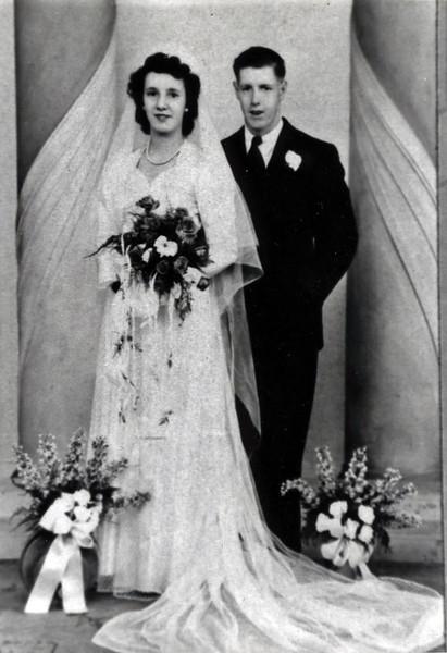 Wedding of Edith Wilke and Raymond Clark