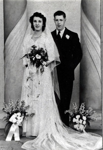 Wedding of Edith Wilke and Raymond Clark