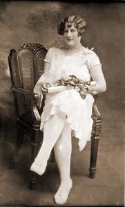 Ruth Virginia (Clark) Smith (1908-1981) in 1926 (Age 18), High School Graduation, Churchville Virginia
