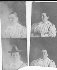 Four tiny photos of Jennie Dohm