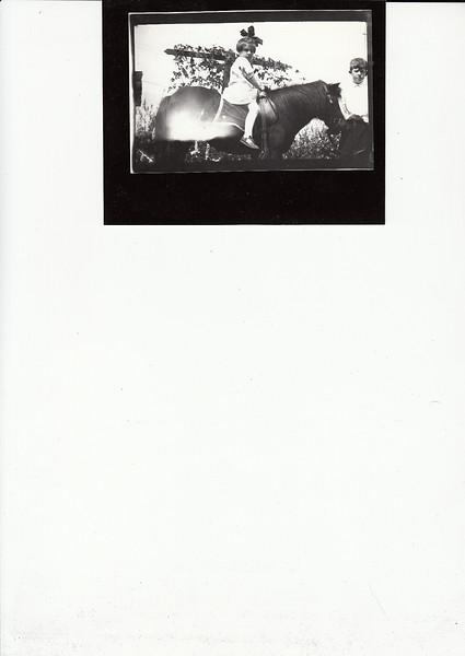 Dorothy Dohm on pony, c1910