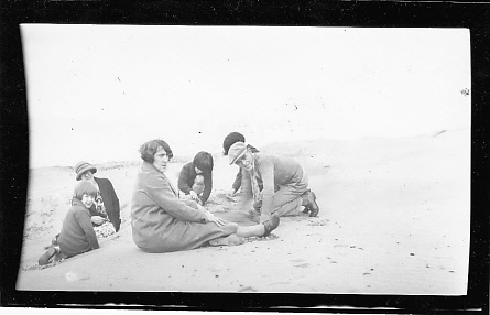 A Dohm family outing at the beach, mid1930s