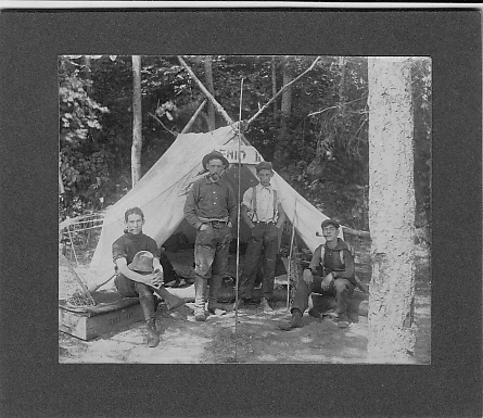 Edw C Dohm, others, military camp c1919?