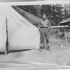 Edw C Dohm at Kachess River Camp, WA, c 1908