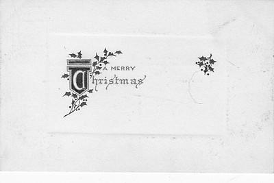 Christmas postcard, Edw C Dohms, front