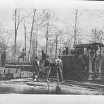 Narrow gauge railway crew, possibly survey crew, early 1900s, WA