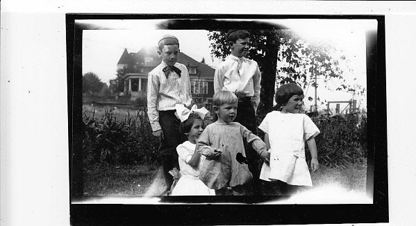 Gill boys, oldest three Dohm children