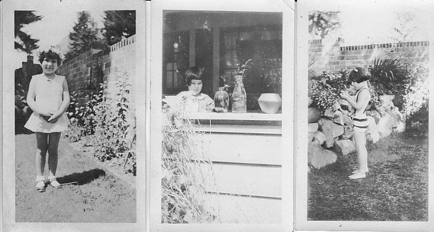 Three photos of young Judith Dohm