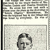 "Obituary of ""Little Charley"" Hendrickson, 1906"