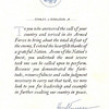 SJD, Jr's letter of appreciation for war service from the POTUS.