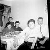 Left to right: Standing John Ciuca (Teresa) seated, Greg Puzzo (Connie) and Pasqual (Patsy) Ciuca (Teresa) front, Anthony Puzzo (Connie), back and right Anthony Curcio (Mary) <br /> Taken at the home of Tony & Sally Cortese about 1965
