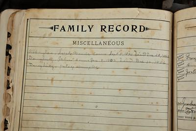 J. M. and Effa Mae Dougherty's Family Bible