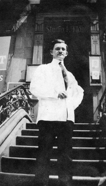 Dave Bloom at his first dental office, c1915<br /> <br /> 2021 Fifth Avenue (at 125th street), New York, NY