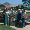 1975, in front of Dugan residence; L to R: Floyd Dugan, Helen Dugan, LE Clark, Mendi Hull, Lois Clark, Jason Hull, Judi Hull, Nathan Hull, Ada Glines-Hunt, Hunt, Jerri Clark.