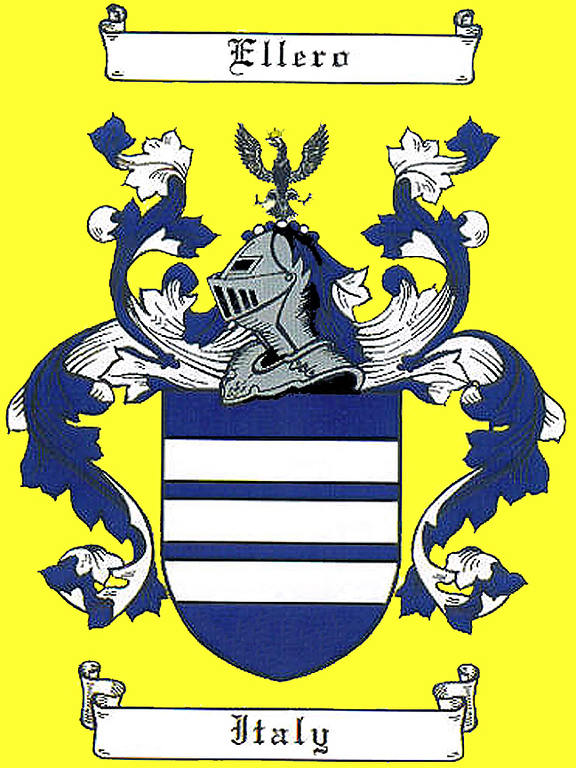 Ellero Coat of Arms. Contributed by Ron Ellero.