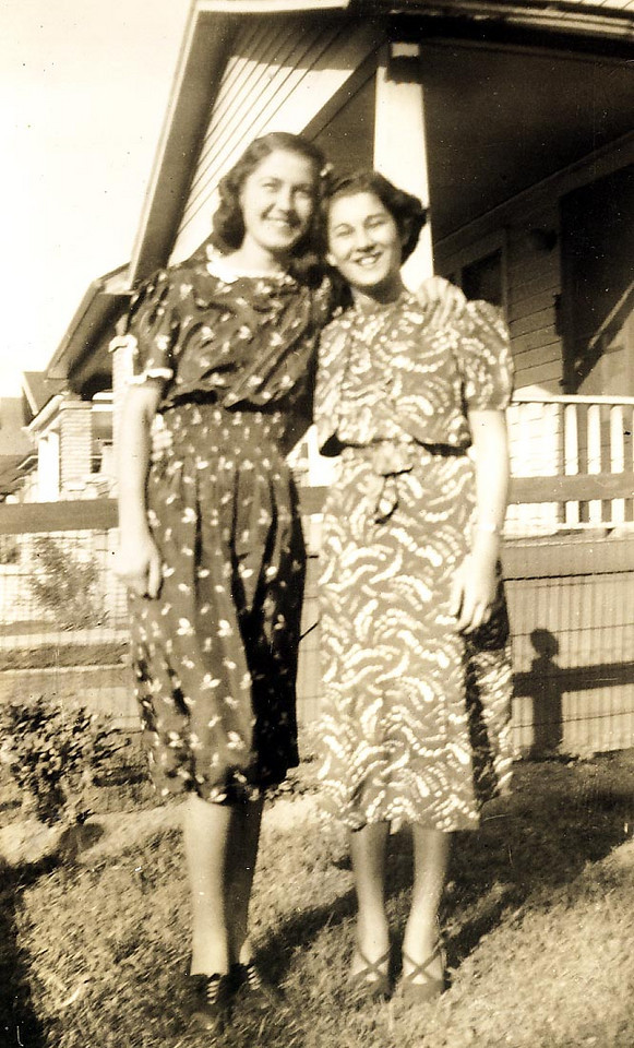 Adelia Ellero and Anita Clausi. ca. 1937