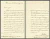 """PIETRO ELLERO LETTER<br /> <br /> Pietro Ellero (1833-1933) Two page letter dated July 27, 1867; Pordenone / Province of Udine.<br /> <br /> Written entirely in his own hand, on his personal embossed stationary. Sent to the President of the Egyptian Institute in Alexandria; thanking him for mentioning his name and works. Signed 'Pietro Ellero, Professor of the University of Bologna, Deputy of the Parliament of Italy.' <br /> <br /> Found in Cairo, Egypt, 145 years after it was written. 8.25"""" X 5.5"""""""
