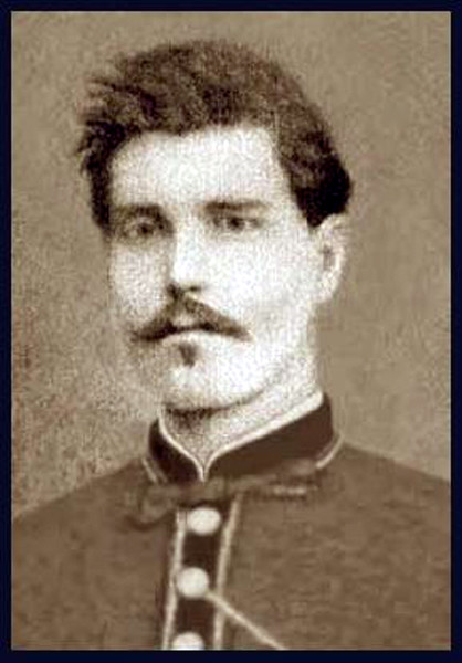"Garibaldino, Red Shirt Volunteer, Pietro Di Biaggio (1844-1913), ca 1863. Son of Giovanni Di Biaggio & Teresa Piuzzi.   Married Maria Toppazzini in 1875. Father of Teresa (Di Biaggio) Ellero (1877-1965). <br /> <br /> A heroic soldier, honored by Gen. Garibaldi for valiant action in combat. He volunteered when General Garibaldi personally came to his village looking for recruits to fight for the unity of Italy. His Red Shirt was made by two women in Milan under secrecy, as this was considered treason punishable by death. Reenlisted in 1864. Marched victorious into Rome in 1870 after their final Siege and Battle to unite Italy under one King, Vittorio Emanuele II. Born in 1844, died in 1913. Carved on his tombstone is the following inscription: ""Padre Affettuoso, Ottimo Sposo, Cittadino Integerrimo, Soldato Eroico, Religione E Patria, Onoro"". <br /> <br /> Translation: ""Affectionate father, Excellent Spouse, Incorruptible Citizen, Heroic Soldier, Religion, Patriotism, Honor""."