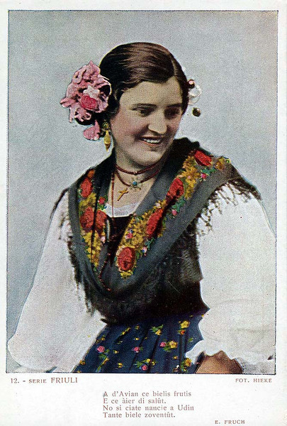 Traditional Dress of Friuli.