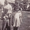 John & Linetha Miller (behind) with Larry Miller & Barbara Lewis