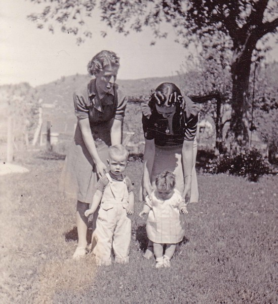 Lettie and son Johnny Miller at left - Ca  1940