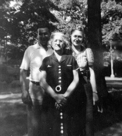 Harry (Elinsky) Allen, Rose Kulkin Elinsky, Yetta Lebow Allen,  1939.