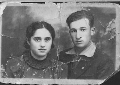 Mendel and Frieda Feldman Before WWII - 1937 Original photo scanned without modification