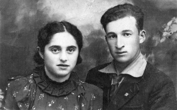 """Sweet Hearts""   Mendel & Frieda Feldman before WWII - 1937 Restored original scanned photograph"