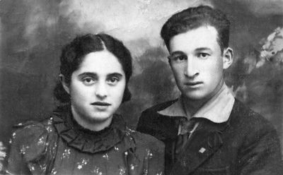 """Sweet Hearts""   Mendel & Frieda Feldman before WWII - 1937 Restored original scanned photograph"