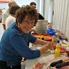 Our host - Marian Vollenweider Graham - preparing the condiments