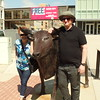 Vadis and Jeff - outside Sioux City Museum