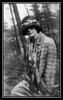 """Evelyn """"Pearl"""" Brodeur, at Mt. Pleasant, Lowell, MA, date unknown."""