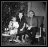 Cheryl Ann & Arlene (Gagan) Hall with Pepere George Gagan, Christmas, date unknown.