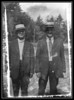 "This is an image of two unknown men that was found in one of Evelyn ""Pearl"" (Brodeur) Gagan's scrapbooks. It's an old tintype and I'm trying to ID them. If anybody has any idea who they are please let me know. I believe the man on the left if Joseph O. Brodeur, Evelyn's father."