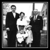 Wilfred Jr. & Arlene (Gagan) Hall, George Gagan, Michael & Cheryl Ann Hall, date unknown.