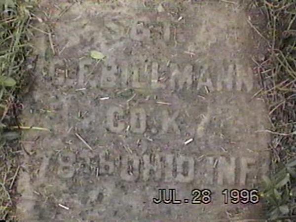C F Billman (78 OVI, Co K)