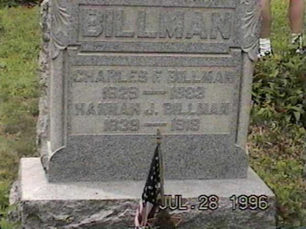 C F and Hannah Billman (Rplmnt Stone)