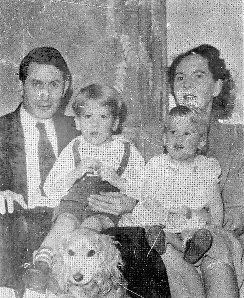 Dad, Mom, CJD and Stef (Circa 1949)