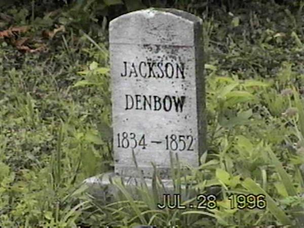 Jackson Denbow (1834-1852) Grave
