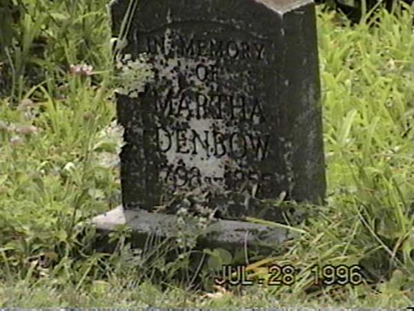 Martha Denbow Grave (1798-1855)