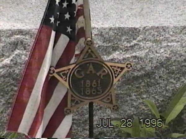 CF Billman Flag & GAR Marker (CU)